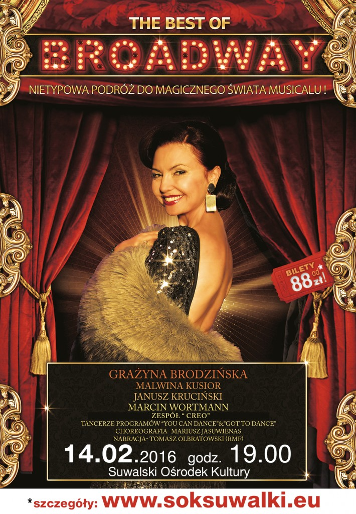 Plakat The best of Broadway_napisy
